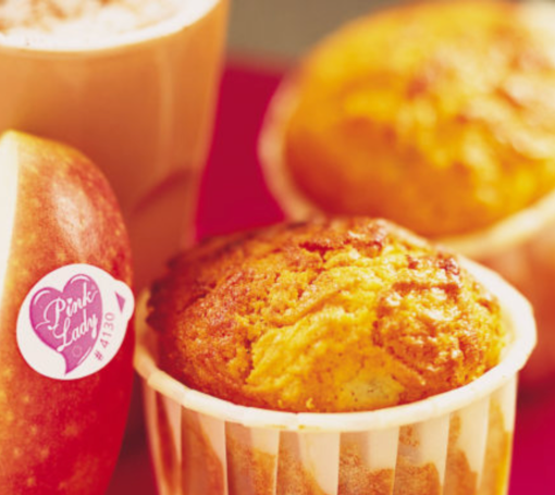 Muffins con manzanas Pink Lady® y chocolate a la canela
